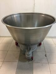Дежи (Дежа 330 лит.) из нерж. стали,  чугунная литая каретка